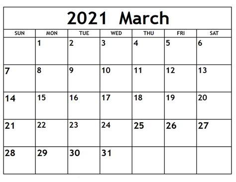 Printable March 2021 Calendar All Formates - Printable ...