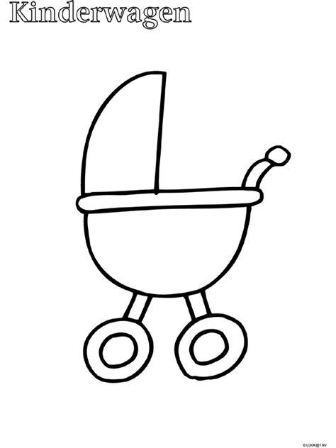 Kleurplaat Baby In Wieg by Kleurplaat Peuter Kleurplaat Kinderwagen Kleurplaten Nl