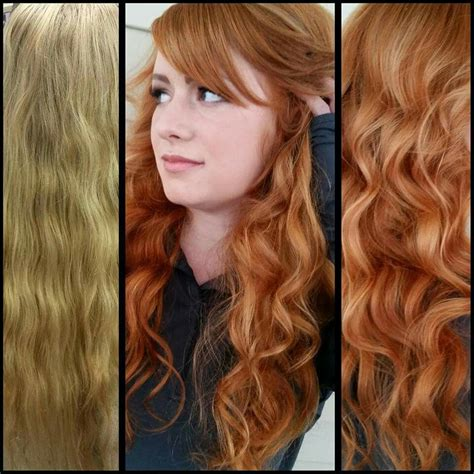 Before And After Blonde To Natural Red Ginger Red