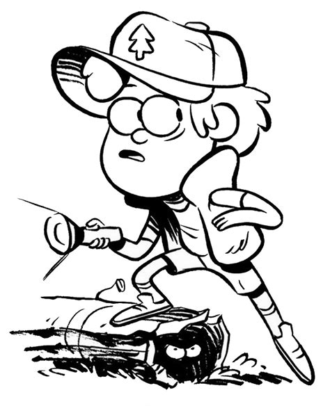 gravity falls coloring pages    print