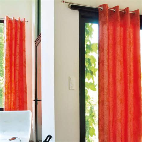 rideau cuisine pas cher rideaux modernes orange pheacia photo 16 20 des