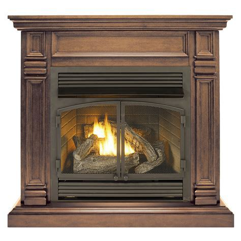 Ventless Fireplace System with Dual Fuel Technology with