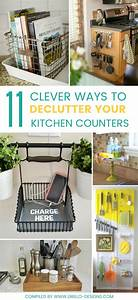 11 clever ways to declutter kitchen counters o grillo designs With organizing free cluttered kitchen atorage ideas