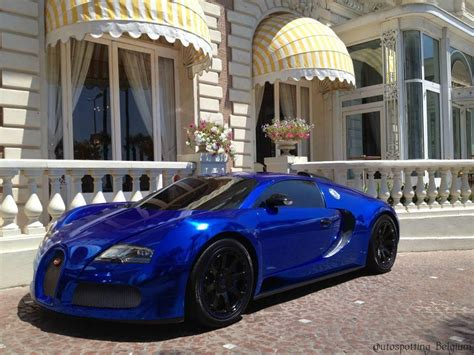 Blue Gold Cool Car Wallpapers by Chrome Blue Bugatti Veyron Amazing Color Cool Car