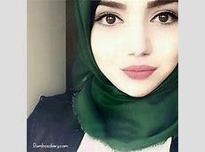 Beautiful girl in green hijab