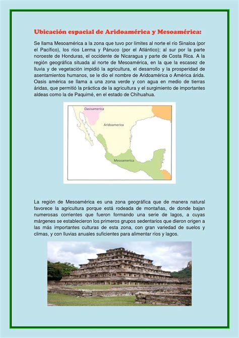 calameo ubicacion espacial de aridoamerica  mesoamerica