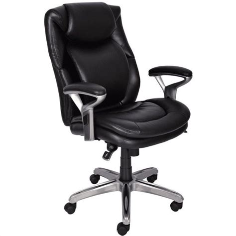 air office chair in black bonded leather 44103