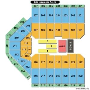 erie insurance arena seating