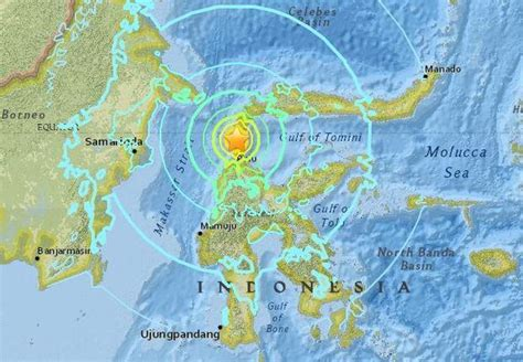indonesia earthquake today tsunami triggered