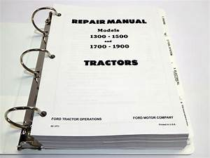 Ford 1300  1500  1700  1900 Tractor Service Manual Repair