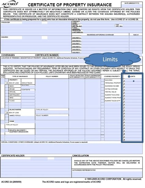 homeowners evidence of insurance acord form property insurance acord form bing images