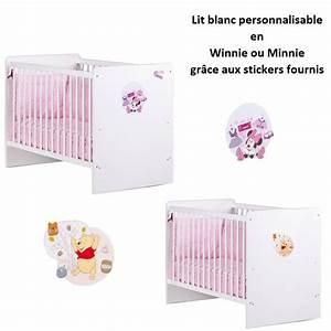 disney lit bebe 60x120 cm personnalisable blanc achat With affiche chambre bébé avec chambre de culture 60 x 60