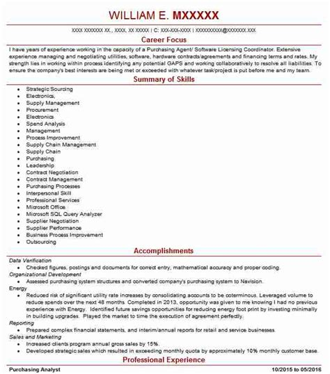 mro buyer resume exle cdi technologies river