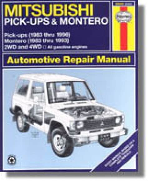 chilton car manuals free download 2004 mitsubishi montero interior lighting haynes mitsubishi pick ups 1983 1996 montero 1983 1993 auto repair manual