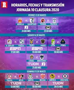 Liga MX: fechas y horarios de la jornada 10 del clausura ...