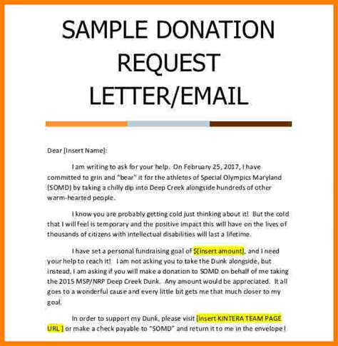 donation request letter template sales slip template