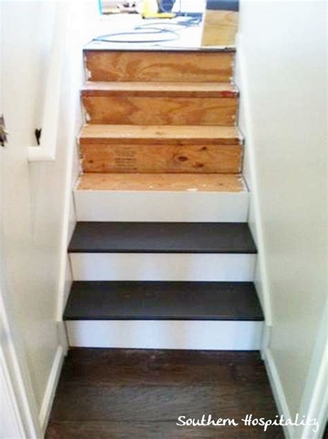 Removing Carpet From Stairs And Painting by Diy How To Cut Paint Amp Install Stair Treads How To