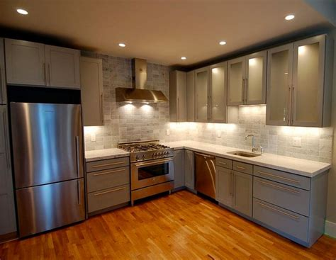 Warm And Grey Kitchen Cabinets