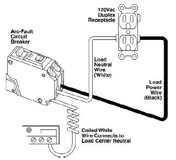 arc fault breaker wiring diagram how to install a arc fault circuit breaker interrupter