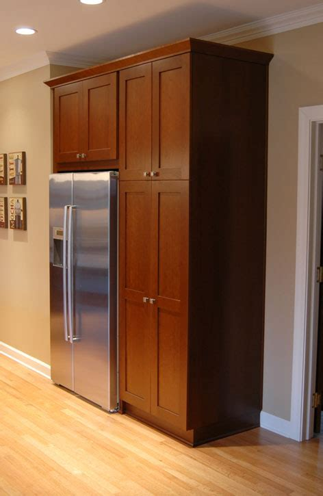 Kitchen Desk Depth by 3 Cabinet Pantry And Counter Depth Refrigerator Replaces