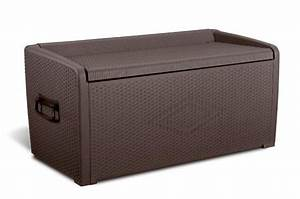 Auflagenbox Mit Sitzfunktion : keter auflagenbox rattanoptik xl gartentruhe sitzbank 134x66x65cm polypropylen ebay ~ Buech-reservation.com Haus und Dekorationen