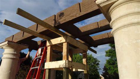 pergola installation assembly installation of a garden diy arbor kit swing western timber frame