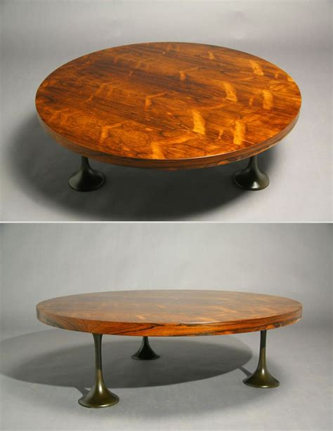 Check out our milo baughman coffee table selection for the very best in unique or custom, handmade pieces from our coffee & end tables shops. Round rosewood coffee table by Milo Baughman with bronze trumpet feet.   Coffee table, Table ...