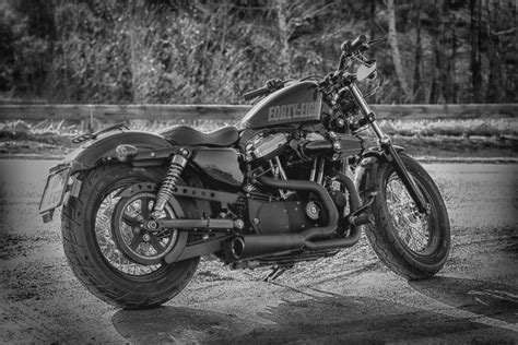 Black And White Hdr Photography Motorcycles Harley