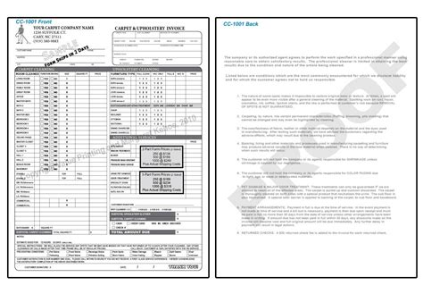 Carpet Cleaning Invoice * Invoice Template Ideas