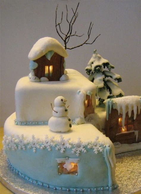 the building of a christmas cake all the sun for you