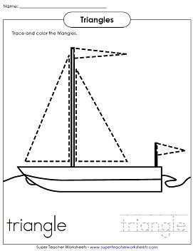 shape worksheet for children trace the triangles 634 | b74f4f8594aaf773399d949779720928