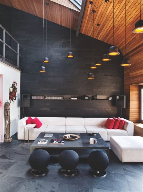 Karakoy Loft Uses Rich Wood Features And Creative Industrial Elements by Loft Living Room Karakoy Loft Uses Rich Wood Features