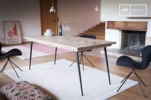Table Pieds Compas : table pi tement compas tongeren plateau bois chevrons pib ~ Teatrodelosmanantiales.com Idées de Décoration
