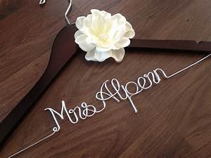 wedding dress hanger bride hanger last name hanger mrs With wedding dress hangers