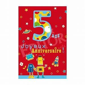 Texte Anniversaire 1 An Garçon : carte joyeux anniversaire 5 ans cadeau maestro ~ Melissatoandfro.com Idées de Décoration
