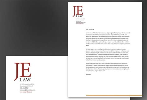 attorney law firm letterhead design layout letterhead