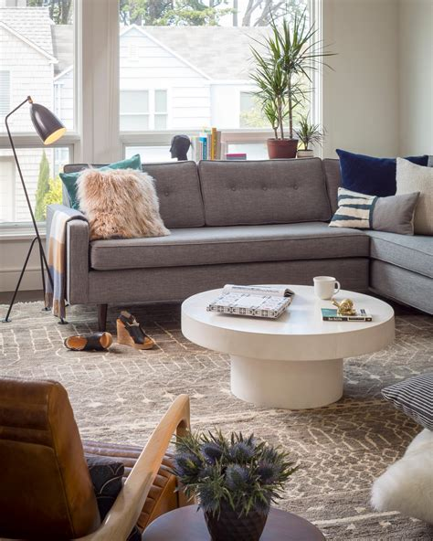 blue and brown rug 12 living room ideas for a grey sectional hgtv 39 s