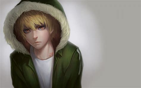 Anime Guy Green Wallpapers Wallpaper Cave