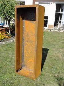 Kaminholzregal Außen Metall : r ckwand f r kaminholzregal 1 9m x 0 6m corten edelrost ~ Frokenaadalensverden.com Haus und Dekorationen
