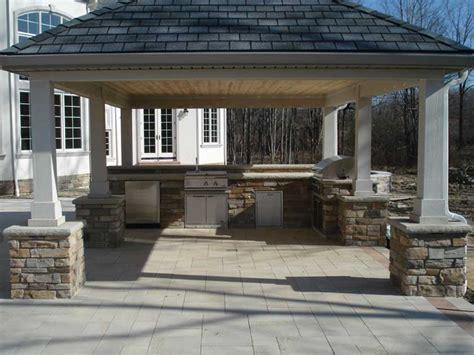 outdoor kitchen pavilion designs outdoor living pavilions exscape designs 3863