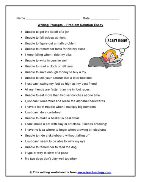 problem solution essay writing prompts