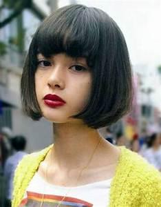 Coupe Cheveux Tete Ronde : coiffure visage rond frange 40 coiffures canon pour les visages ronds elle ~ Melissatoandfro.com Idées de Décoration