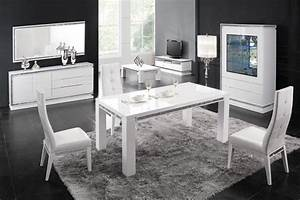 table basse design laquee blanche sertie collection With deco cuisine avec chaise de salon blanche