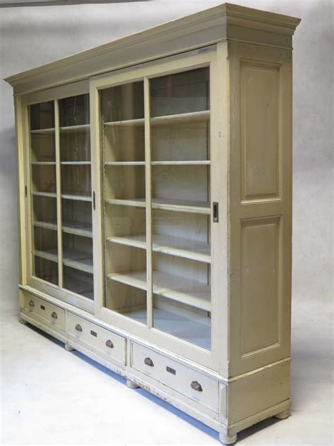 Large Bookcase With Doors by Large Wooden Bookcase With Sliding Glass Doors And