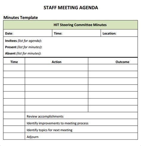 staff meeting agenda template staff meeting agenda 7 free for pdf