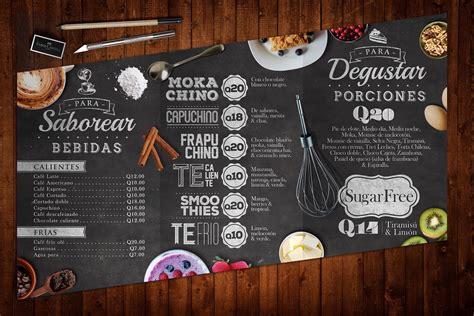 """Vector set of modern posters with coffee backgrounds. Diseño de menú para Pastelería los Tulipanes.Menu design for Cakestore """"Los Tulipanes"""" (The ..."""