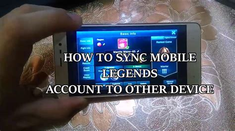 How To Sync Mobile Legends Account To Other Device