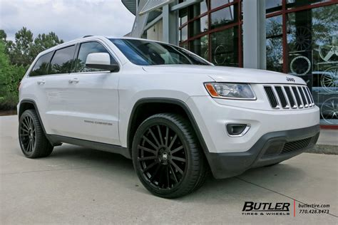 jeep cherokee black with black rims jeep grand cherokee with 22in black rhino kruger wheels
