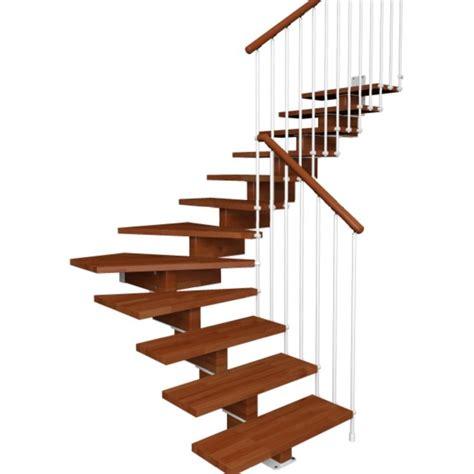 escalier contemporain 1 4 tournant bois en kit
