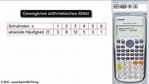Mitternachtsformel Berechnen : gewogenes arithmetisches mittel berechnen mit taschenrechner youtube ~ Themetempest.com Abrechnung